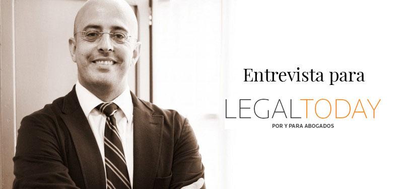 Entrevista de Fernando Salmerón con Legal Today