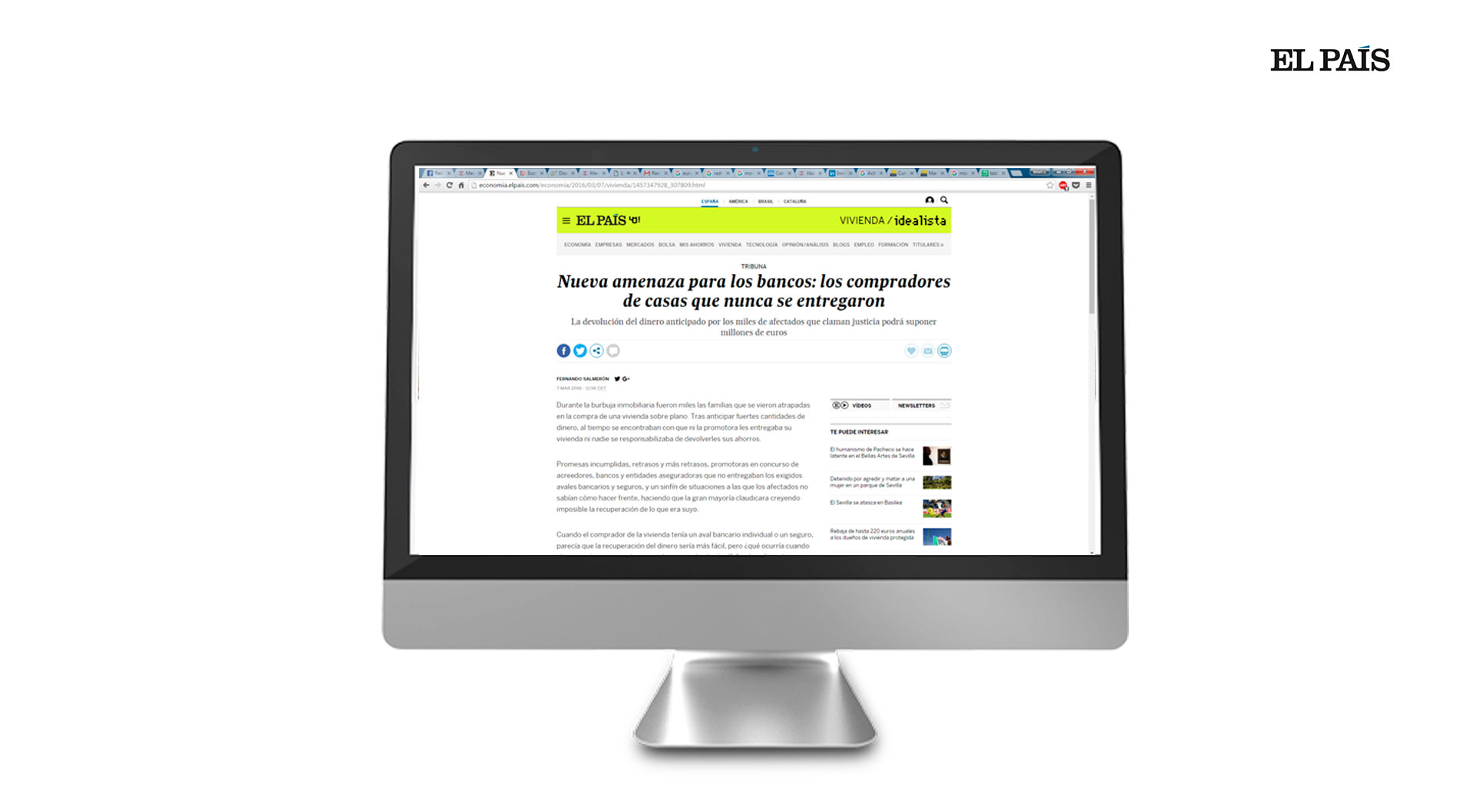 El País, a renowned newspaper nationwide, publishes an opinion piece of Fernando Salmerón on its digital version.