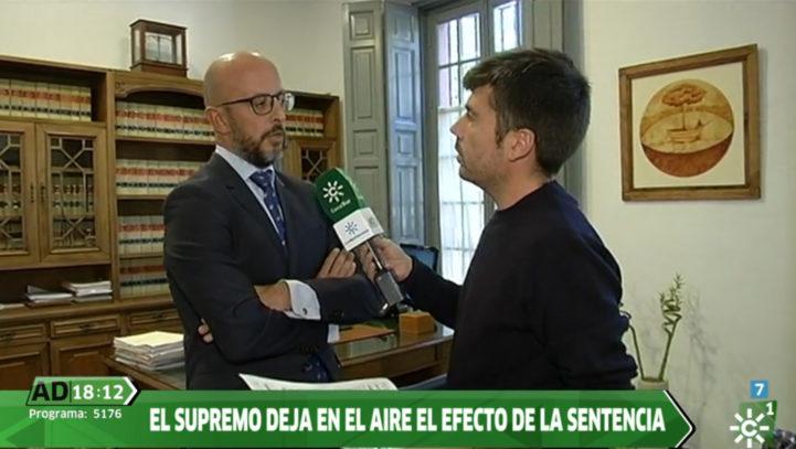 Fernando Salmerón habla en Andalucía Directo sobre la sentencia que atribuye a la banca el pago del impuesto de actos jurídicos documentados en una hipoteca